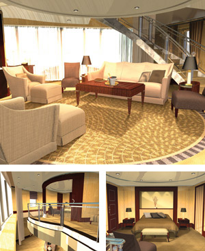 Cunard, QM2 Cruises: Q1 Queens Grill Accommodations