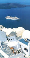 All Suite Cruises - Balcony, Veranda - Crystal Cruises - Santorinie, Greece