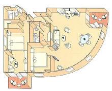 Luxury Cruises In Europe, Royal Suite Diagram