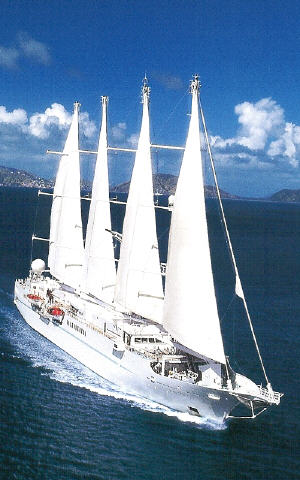 Deluxe Cruises Windstar Cruises Sailing, Wind Spirit Calendar  2003-2004, Wind Star Calendar  2003-2004, Wind Surf Calendar  2003-2004