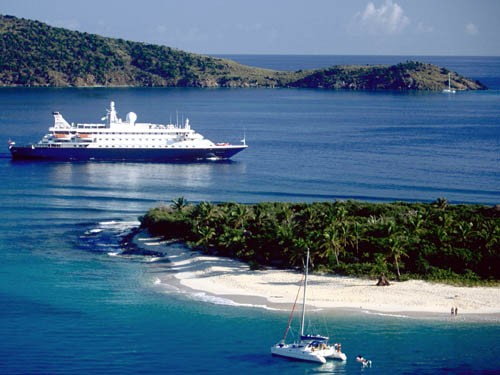 All Suite Cruises - Balcony, Veranda - SeaDream Yacht Club Cruises (SeaDream I Calendar 2003, SeaDream II Calendar 2003)